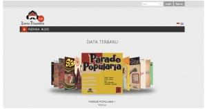 Tampilan desain situs Irama Nusantara